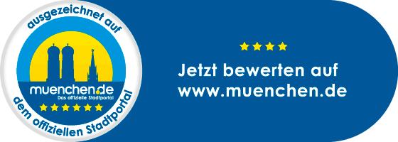 4 Sterne Bewertung auf dem offiziellen Stadtportal muenchen.de